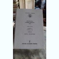 DICTIONARUL LIMBII ROMANE TOMUL I PARTEA A 5-A, LITERA D