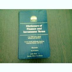 DICTIONARY OF FINANCE AND INVESTMENT TERMS -JOHN DOWNES  (TEXT IN LIMBA ENGLEZA)