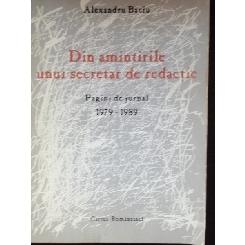 DIN AMINTIRILE UNUI SECRETAR DE REDACTIE - ALEXANDRU BACIU