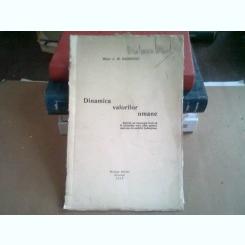 DINAMICA VALORILOR UMANE - C.M. SANDOVICI
