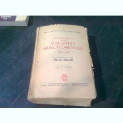 DOCUMENTE DIN MISCAREA MUNCITOREASCA 1872-1916 - MIHAIL ROLLER