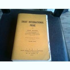 DROIT INTERNATIONAL PRIVE - HENRI BETTIFOL
