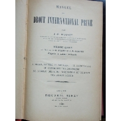 DROIT INTERNATIONAL PRIVE - J.P.NIBOYET