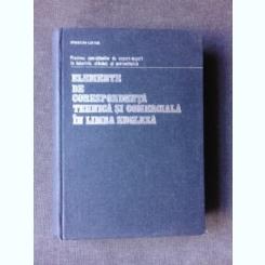 ELEMENTE DE CORESPONDENTA TEHNICA SI COMERCIALA IN LIMBA ENGLEZA - SPIRIDON LEFTER