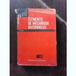 ELEMENTS DE MECANIQUE RATIONNELLE - S. TARG