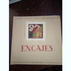 ENCAJES ESPAÑOLES. OBRA SINDICAL ARTESANIA. DELEGACION NACIONAL DE SINDICATOS DE FET Y JONS / dantele spaniole, carte in limba spaniola