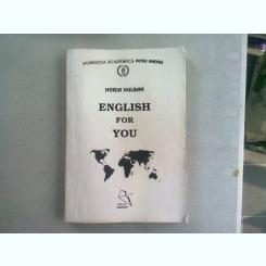 ENGLISH FOR YOU - HORIA HULBAN