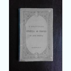 EPISTULA AD PISONES. DE ARTE POETICA - Q. HORATII FLACCI  (CARTE IN LIMBA LATINA)
