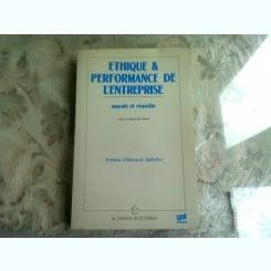 ETHIQUE et PERFORMANCE DE L'ENTREPRISE  (CARTE IN LIMBA FRANCEZA)