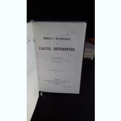 EXERCICES METHODIQUES DE CALCUL DIFERENTIEL - M.ED. BRAHY