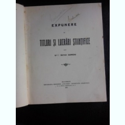 EXPUNERE DE TITLURI SI LUCRARI - VICTOR GOMOIU