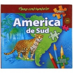 FAUNA CONTINENTELOR. AMERICA DE SUD - CARTE PUZZLE