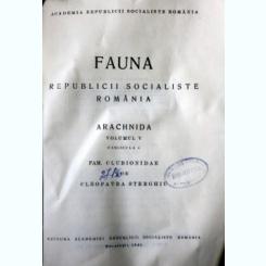 Fauna Republicii Socialiste Romania. Volumul V, Fascicula 4, Cleopatra Sterghiu