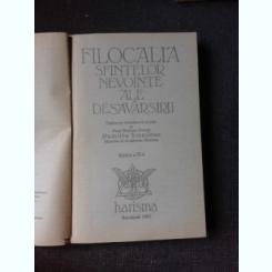 FILOCALIA SFINTELOR NEVOINTE ALE DESAVARSIRII   VOL.1
