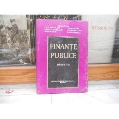 FINANTE PUBLICE EDITIA A IV-A , IULIAN VACAREL