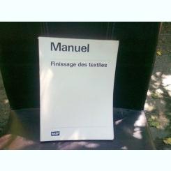FINISSAGE DES TEXTILES - MANUAL