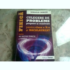 FIZICA CULEGERE DE PROBLEME PROPUSE SI REZOLVATE PENTRU CLASA A X-A SI BACALAUREAT - MIHAELA CHIRITA