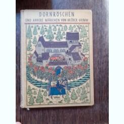 FRUMOASA ADORMITA - FRATII GRIMM  (CARTE IN LIMBA GERMANA)
