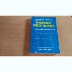 FUNDAMENTELE ANALIZEI MATEMATICE-CONSTANTIN P.NICULESCU