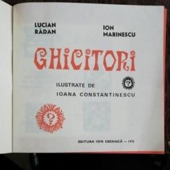 GHICITORI - LUCIAN RADAN /ION MARINESCU
