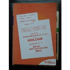 GHID PENTRU BACALAUREAT DE NOTA 10 LA BIOLOGIE 2013