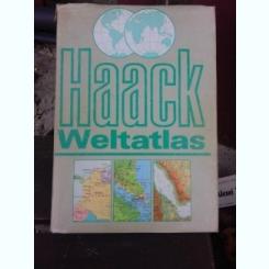 HAACK WELTATLAS  (ATLASUL LUMII, TEXT IN LIMBA GERMANA)