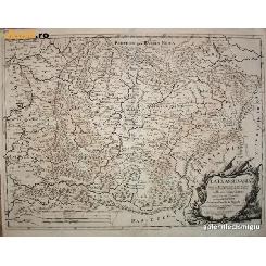 HARTA Transylvania - Romania - Cantelli / De Rossi 1686