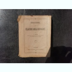 Histoire des relations anglo-roumaines - N. Iorga