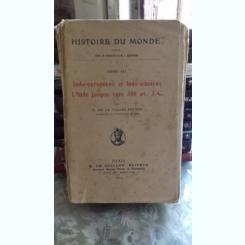 HISTOIRE DU MONDE - L DE LA VALLEE-POUSSIN   VOLUMUL III