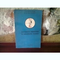 INSTRUMENTE MATEMATICE IN MASURATORILE TERESTRE - VASILE STEFANESCU
