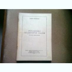 INTOARCEREA LUI CRISTIFOR COLUMB - LUDOVIC BRUCKSTEIN   (DRUMURI DESFUNDATE)
