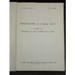 INTRODUCERE IN CHIMIA FIZICA - I.G. MURGULESCU