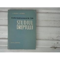 Introducere in Studiul Dreptului , I. Demeter, I. Ceterchi , 1962