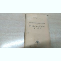 INTRODUCERE SI BIBLIOGRAFIE LA ISTORIA DREPTULUI ROMAN-VALERIU SOTROAPA