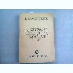 ISTORIA LITERATURII ROMANE - I. NEGOITESCU