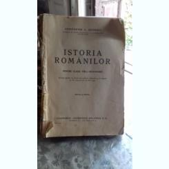 ISTORIA ROMANILOR PENTRU CLASA A VIII-A SECUNDARA - CONSTANTIN C. GIURESCU