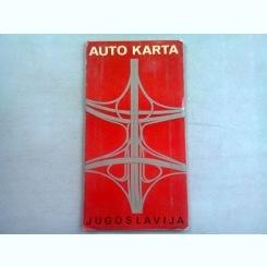 IUGOSKLAVIA - HARTA AUTO