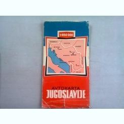 IUGOSLAVIA - HARTA AUTO
