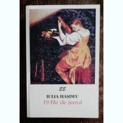 IULIA HASDEU -19 FILE DE JURNAL
