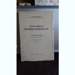 IZVOARELE ISTORIEI ROMANILOR. PROCOPIUS DE AEDIFICIIS - G. POPA - LISSEANU