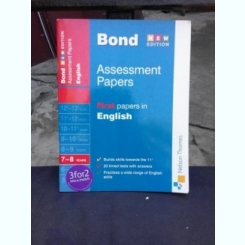 J.M. BOND - ASSESSMENT PAPERS, FIRST PAPERS IN ENGLISH (CARTE IN LIMBA ENGLEZA)
