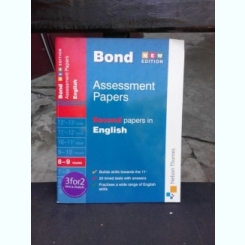 J.M. BOND - ASSESSMENT PAPERS, SECOND PAPERS IN ENGLISH  (CARTE IN LIMBA ENGLEZA)