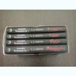 JURNALELE VAMPIRILOR - L.J. SMITH  (VOL.1+2+3+4, IN ETUI)