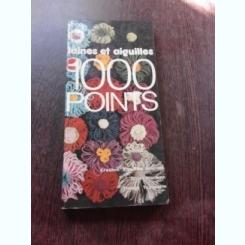 LAINES ET AIGUILLES, 1000 PONTS DE CROCHET  (CARTE DE CROSETAT, TEXT IN LIMBA FRANCEZA)