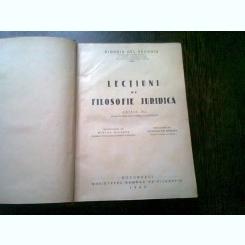 LECTIUNI DE FILOSOFIE JURIDICA - GEORGIO DEL VECCHIO
