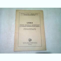 LEGEA ASUPRA REGIMULUI MORMINTELOR SI OPERELOR COMEMORATIVE DE RAZBOIU/ AUGUST 1940