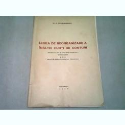 LEGEA DE ORGANIZARE A INALTEI CURTI DE CONTURI - G. DRAGOMIRESCU