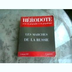 LES MARCHES DE LA RUSSIE - HERODOTE REVUE/1989  (TEXT IN LIMBA FRANCEZA)
