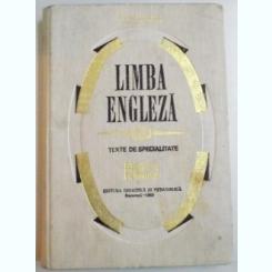 LIMBA ENGLEZA , VOL II : TEXTE DE SPECIALITATE , MEDICINA , FARMACIE DE VENERA STEFANESCU , VIORICA DOBROVICI , 1969