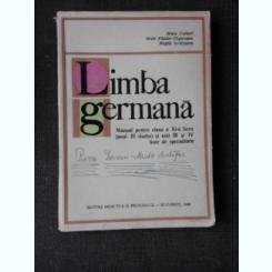LIMBA GERMANA, MANUAL PENTRU CLASA XI-A DE LICEU (ANUL III DE STUDIU) - BRUNO COLBERT